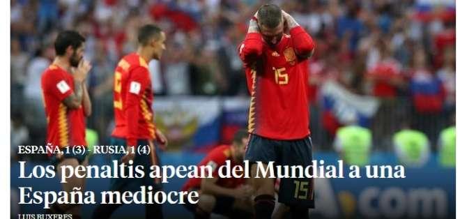 Portada de diario La Vanguardia. Foto: Captura de pantalla