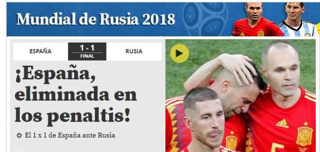 Portada del portal Mundo Deportivo. Foto: Captura de pantalla