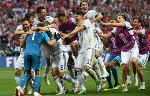 Los rusos son los anfitriones de la copa del mundo donde están en cuartos de final. Foto: YURI CORTEZ / AFP