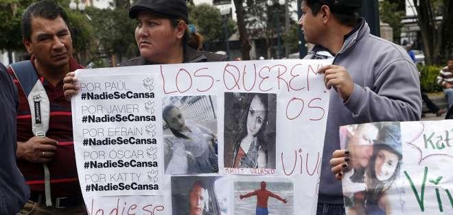 Esperan que cadáveres no sean los de Óscar Villacís y Kathy Velasco. Foto: Archivo API