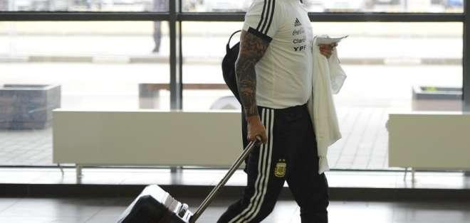BUENOS AIRES, Argentina.- Jorge Sampaoli a su llegada a Argentina. Foto: OLÉ