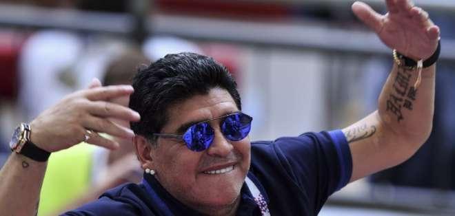 KAZÁN, Rusia.- Maradona durante el último partido de Argentina en el Mundial de Rusia - 2018. Foto: AFP