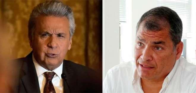 ECUADOR.- Moreno y Correa sostienen una pugna de poder que llevó a la crisis al oficialismo. Foto: AFP