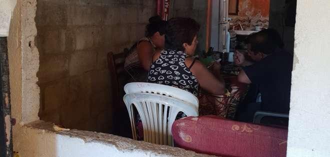 En la vivienda ubicada en la zona este de Santo Domingo hay resguardo policial.  Foto: Diana Romero
