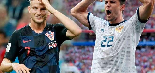 Contra todo pronóstico, Rusia disputa los 4tos de final mientras que, Croacia espera superar lo conseguido en 1998. Foto: Líbero
