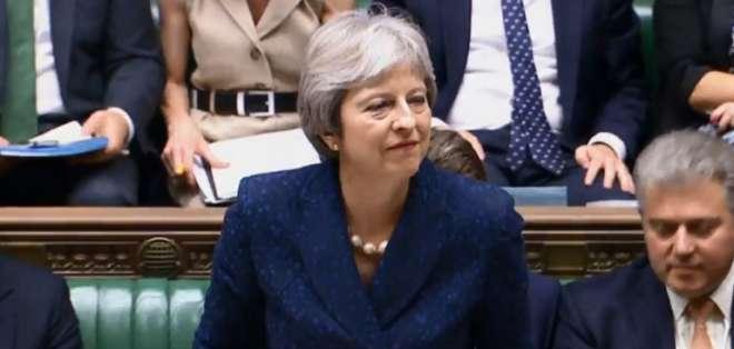 May defiende su proyecto de Brexit. Foto: AFP
