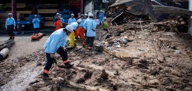 Aumentan a 156 los muertos por lluvias en Japón. Foto: AFP