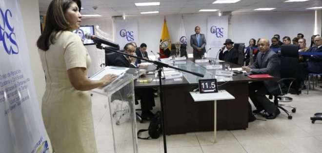 ECUADOR.- Autoridades del CNE rechazaron ante el CPCCS transitorio cuestionamientos por designación. Foto: API