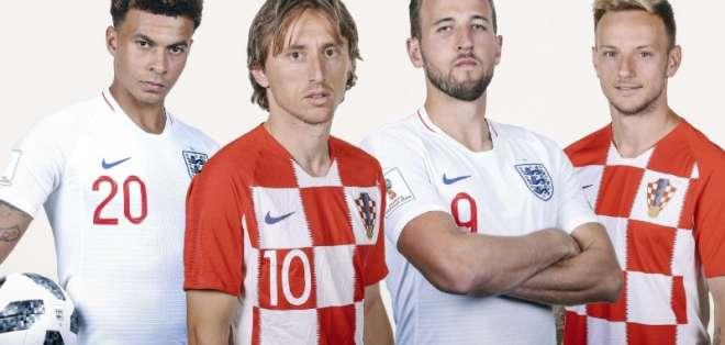 Los ingleses llegan a esta fase del torneo luego de 28 años, mientras que los croatas después de 20. Foto: FIFA