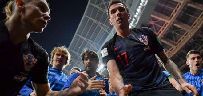 Mario Mandzukic durante la clasificación de su selección a la final de Rusia 2018. Foto: AFP