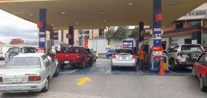 Desperfecto en terminal Challubamba estaría impidiendo conseguir el combustible. Foto: Twitter @Sanchezmendieta