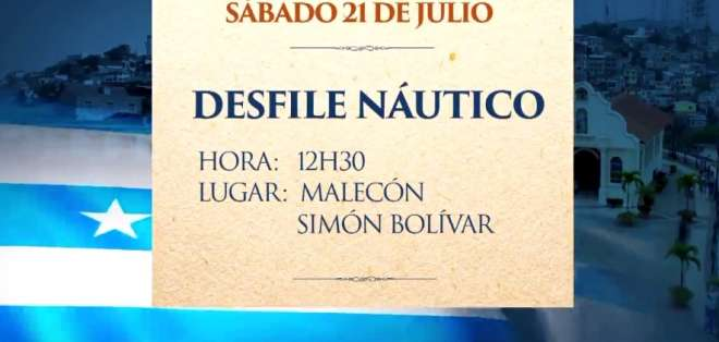 Conozca la agenda de eventos por fiestas julianas en Guayaquil.