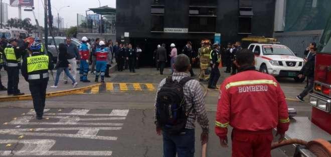 Resultaron gravemente heridos tras recibir el mayor impacto de una de las mochilas con explosivos. Foto: @Minsa_Peru