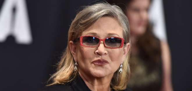 Carrie Fisher falleció en 2016. Foto: AFP Archivo
