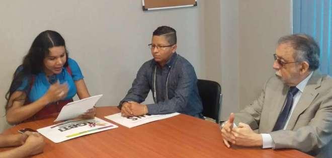 El 24 de julio representantes de colectivos GLBTI en Ecuador se reunieron con Alfredo Ruiz, presidente de la Corte. F: Twitter.