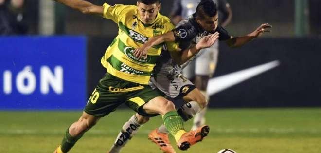 Defensa y Justicia ganó 2-0 en el partido de ida. Foto: AFP