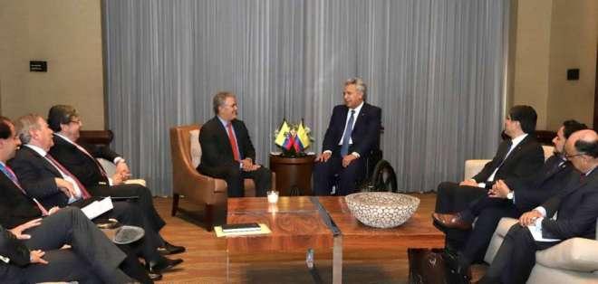 COLOMBIA.- Entre otros temas, los mandatarios hablaron sobre cooperación en seguridad fronteriza. Foto: Twitter