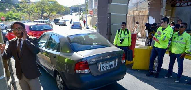 GUAYAQUIL, Ecuador.-  El fiscal Cesar Peña realizó el reconocimiento del sitio el 8 de agosto. Foto: API.