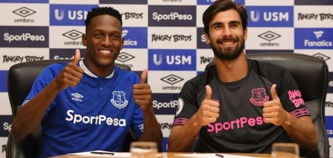 Ambos jugadores fueron oficializados minutos antes del cierre del mercado de la liga inglesa. Foto: @Everton