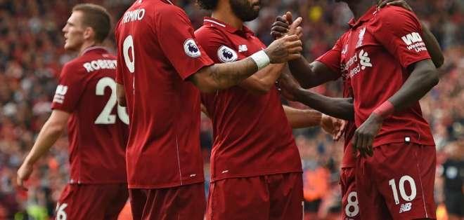 Los 'reds' vencieron 4-0 a los 'hammers' en Anfield. Foto: OLI SCARFF / AFP