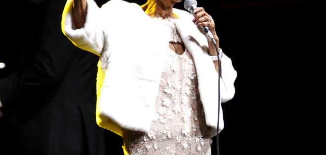 La 'Reina del Soul' durante una presentación. Foto: AP.