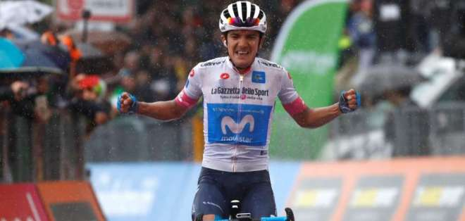 Richard Carapaz se ubicó en la cuarta posición de la clasificación general del Giro de Italia. Foto: AFP