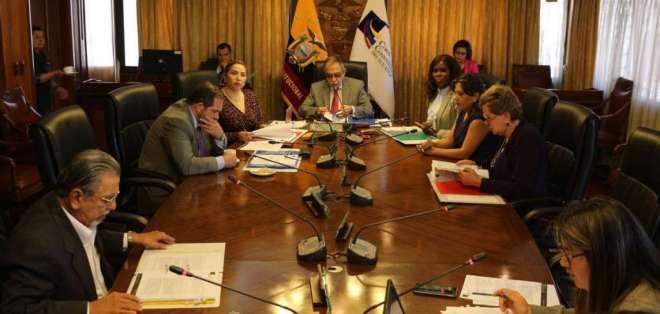 QUITO, Ecuador.- Los magistrados tiene hasta tres días para impugnar la evaluación del Consejo transitorio. Foto: Archivo