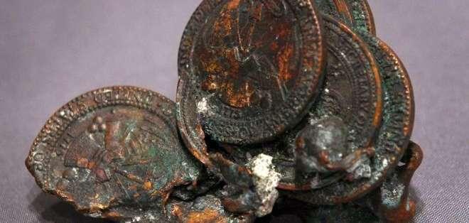 Estas monedas fueron encontradas en los escombros de las Torres Gemelas.