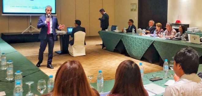 El director ejecutivo de la Liga Pro, Luis Manfredi, llevó a cabo esta instrucción. Foto: Tomada de @LigaProEC