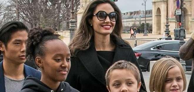 La menor del clan Jolie-Pitt sigue los pasos de su hermana mayor, Shiloh. Foto: Instagram Vivienne Knox.