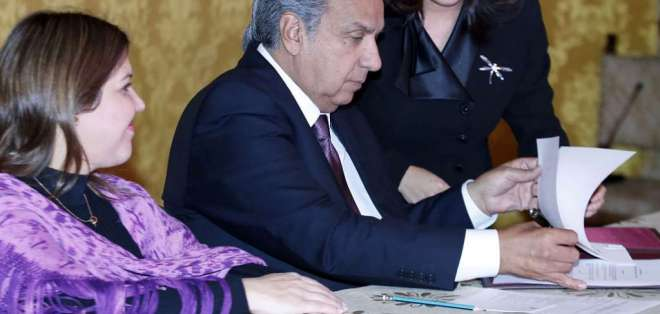 Presidente Moreno emitió 3 decretos al respecto este viernes 20 de septiembre de 2018. Foto: Archivo Flickr Presidencia