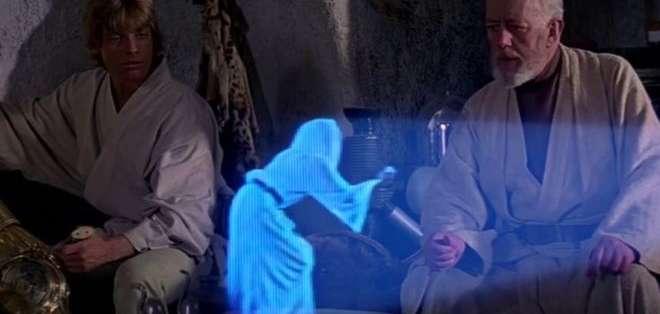 """¿Podrán los hologramas ser proyectados desde nuestros teléfonos, como en """"La guerra de las galaxias""""? Foto: Lucasfilm"""