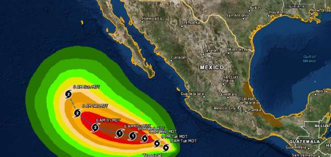 "El temporal ""originará tormentas de fuertes a muy fuertes"". Foto: Twitter"