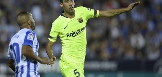 Busquets juega en el primer equipo del Barça desde el 2008. Foto: AFP