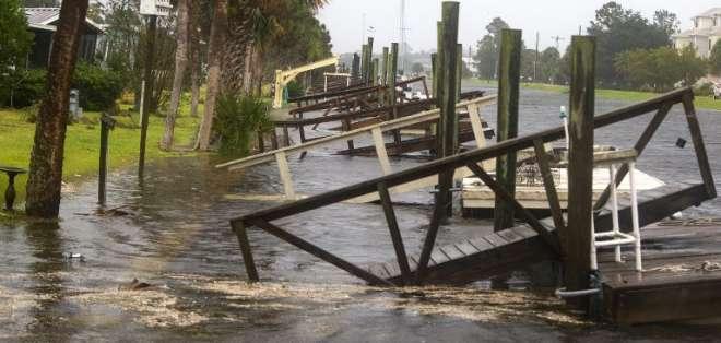 El ojo del potente huracán Michael toca tierra en Florida. Foto: AFP