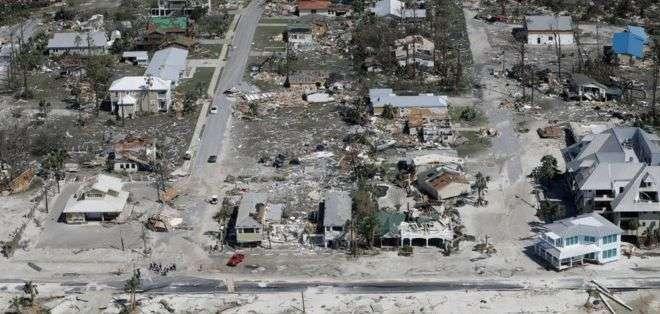 Mexico Beach quedó virtualmente arrasada.