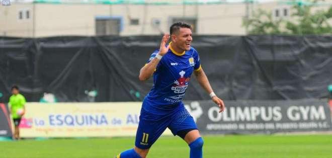 Carlos Garcés es el máximo goleador del Delfín de la temporada 2018. Foto: API
