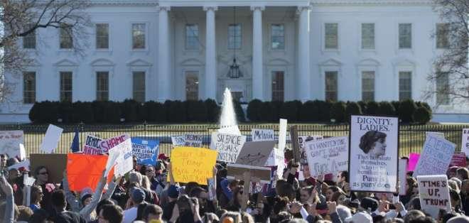 Women´s March prepara marcha en Chicago      Foto: AFP