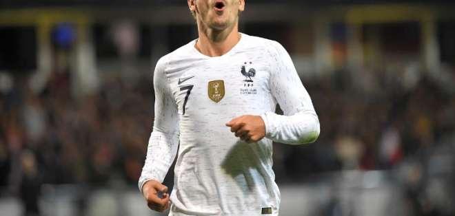 GUINGAMP, Francia.- El futbolista durante el partido amistoso entre Francia e Islandia. Foto: AFP