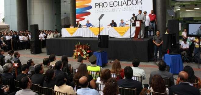 Lanzamiento de Pro Ecuador en el gobierno de Rafael Correa, año 2011. Foto: Archivo
