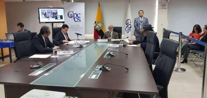 Así lo resolvió la tarde del jueves el Pleno del Cpccs transitorio. Foto: Cpccs