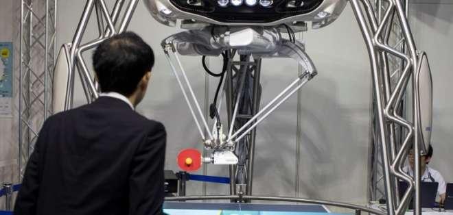Salón World Robot Summit, en China. Foto: AFP