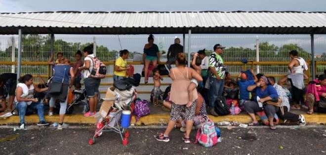 3.000 indocumentados llegaron el domingo a Tapachula (Chiapas). Foto: AFP