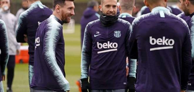 Messi entrenó con normalidad esta jornada. Foto: F.C. Barcelona
