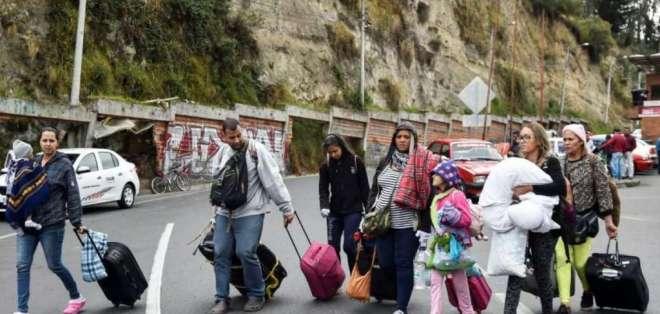 Ecuador promueve protección de migrantes venezolanos. Foto: AFP - Archivo
