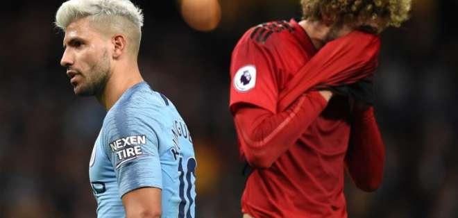 MÁNCHESTER, Reino Unido.- Sergio Agüero anotó el segundo gol del partido. Foto: AFP