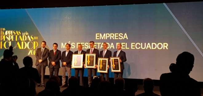 Reconocimiento a empresas y empresarios más respetados en Ecuador.