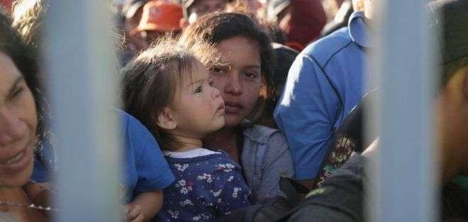Miles de migrantes llegaron a la frontera con EE.UU. Foto: GETTY IMAGES