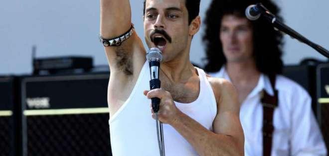 Video compara los pasos del cantante en el concierto Live Aid con Malek en la cinta. Foto: Captura.