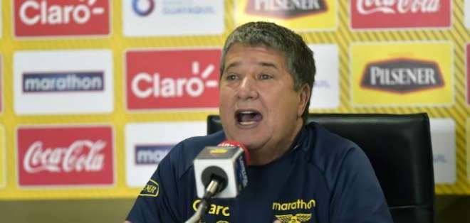 Hernán Darío Gómez resaltó el trabajo de su equipo en estos dos últimos compromisos. Foto: AFP
